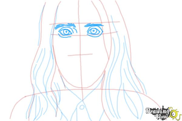 How to Draw Jared Leto - Step 5
