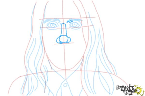 How to Draw Jared Leto - Step 6