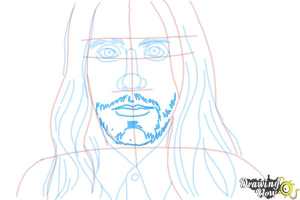 How to Draw Jared Leto - Step 7