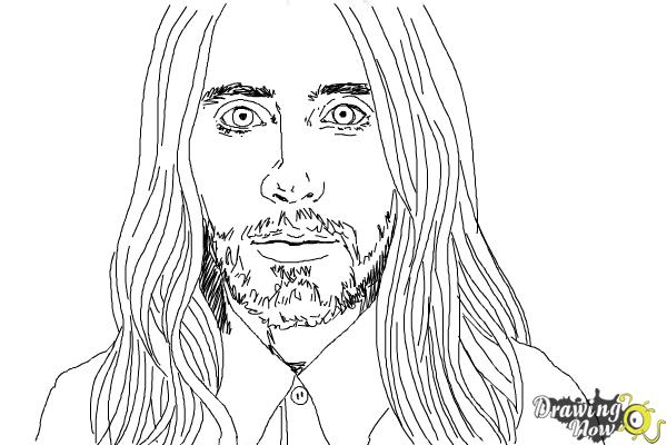 How to Draw Jared Leto - Step 8