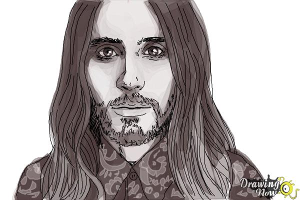 How to Draw Jared Leto - Step 9