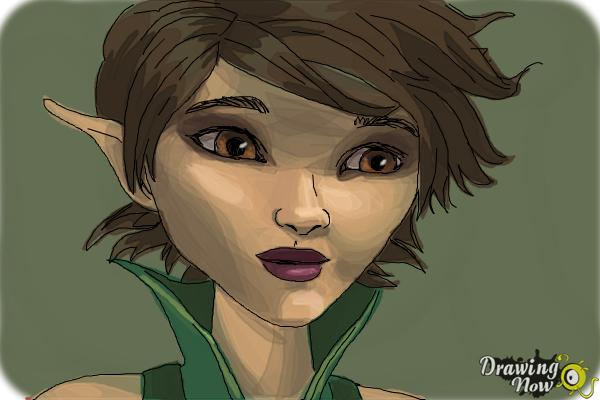 How to Draw Marianne from Strange Magic - Step 10
