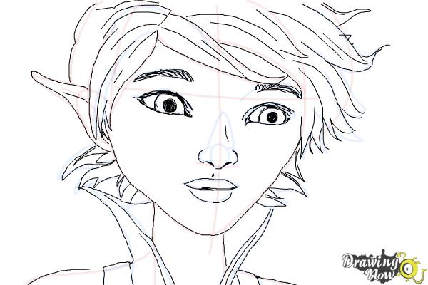 How to Draw Marianne from Strange Magic - Step 9
