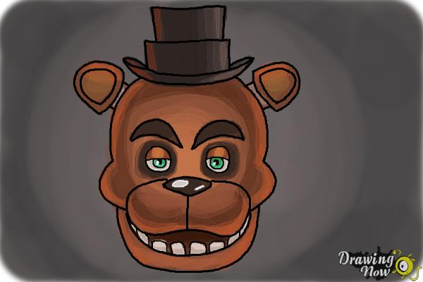 How to Draw Freddy Fazbear from Five Nights At Freddy'S - Step 10