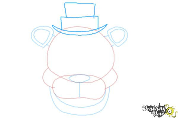 How to Draw Freddy Fazbear from Five Nights At Freddy'S - Step 6