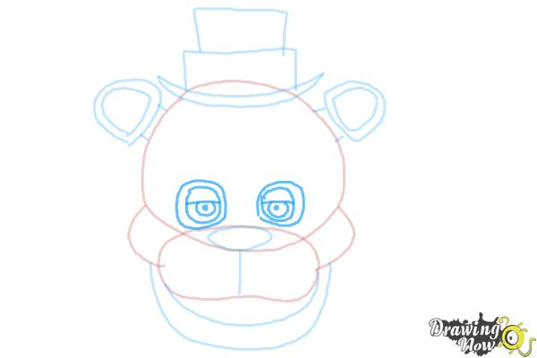 How to Draw Freddy Fazbear from Five Nights At Freddy'S - Step 7