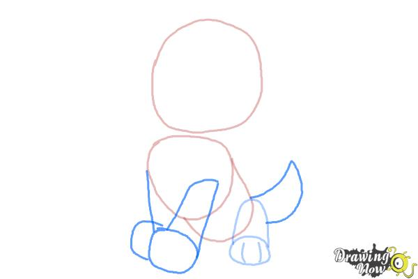 How to Draw Everest from Paw Patrol - Step 3