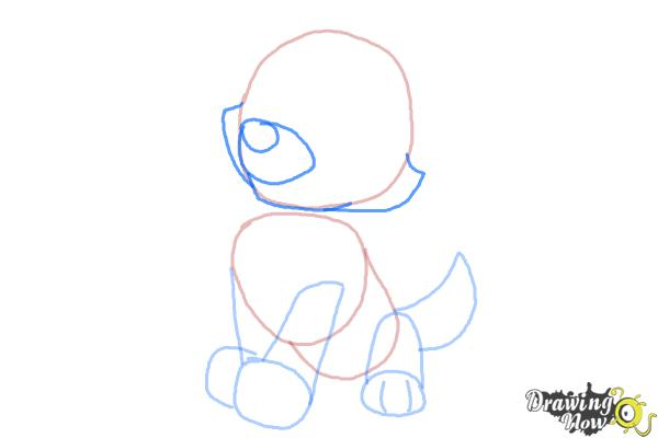 How to Draw Everest from Paw Patrol - Step 4