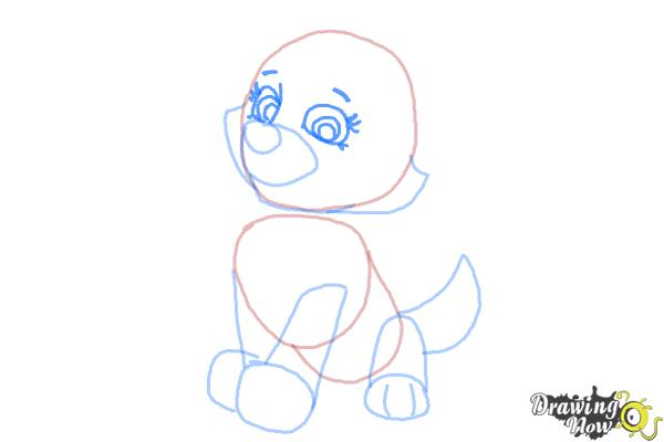 How to Draw Everest from Paw Patrol - Step 5