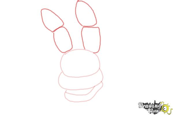 How to Draw Bonnie The Bunny from Five Nights At Freddys - Step 3