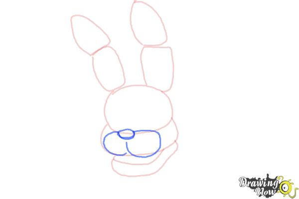 How to Draw Bonnie The Bunny from Five Nights At Freddys - Step 4