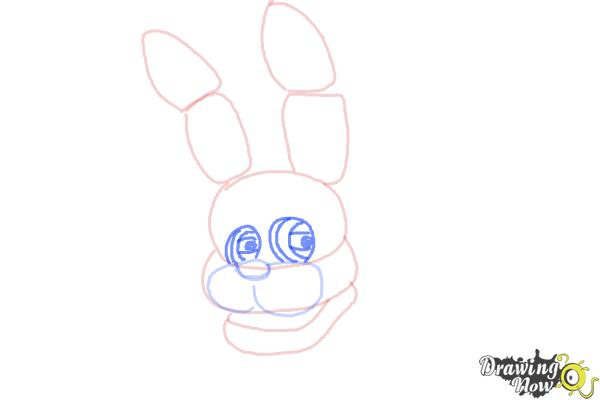 How to Draw Bonnie The Bunny from Five Nights At Freddys - Step 5