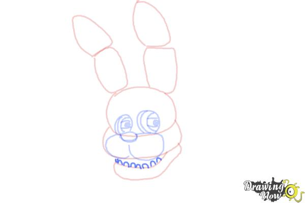How to Draw Bonnie The Bunny from Five Nights At Freddys - Step 6