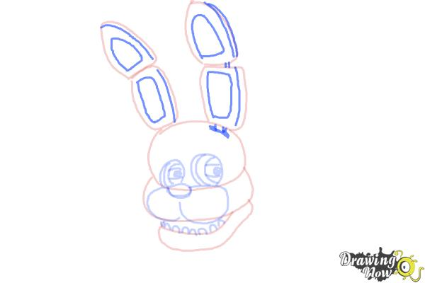 How to Draw Bonnie The Bunny from Five Nights At Freddys - Step 7