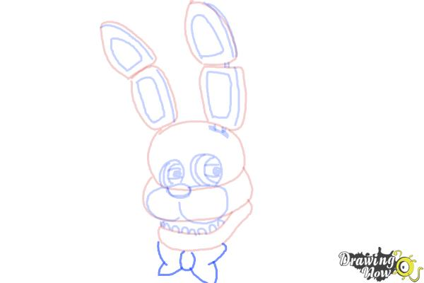 How to Draw Bonnie The Bunny from Five Nights At Freddys - Step 8