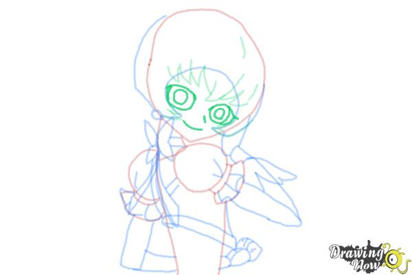 How to Draw Cure Sunshine, Myoudouin Itsuki from Pretty Cure - Step 10