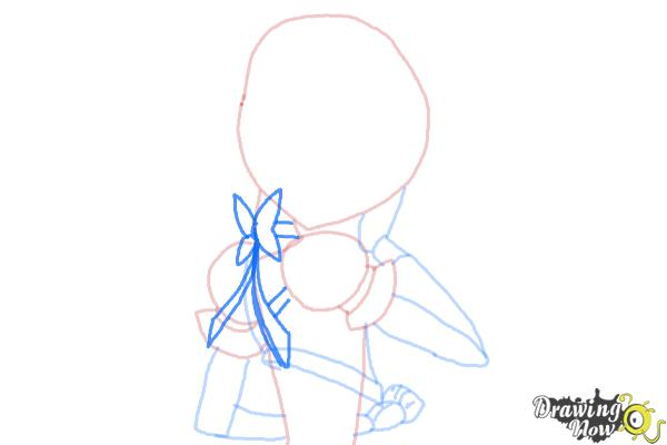 How to Draw Cure Sunshine, Myoudouin Itsuki from Pretty Cure - Step 7