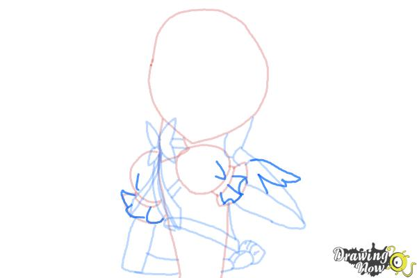 How to Draw Cure Sunshine, Myoudouin Itsuki from Pretty Cure - Step 8