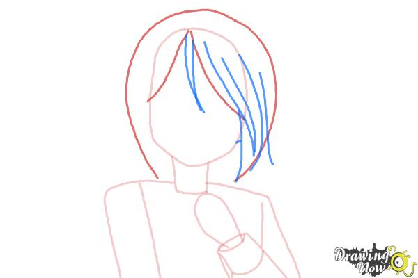 How to Draw Mayu Suzumoto from Corpse Party - Step 3