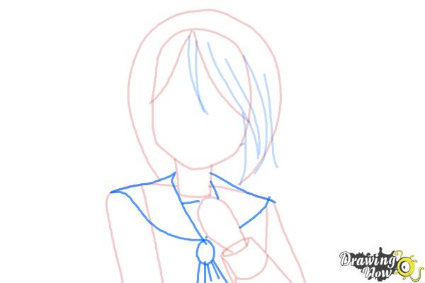 How to Draw Mayu Suzumoto from Corpse Party - Step 4