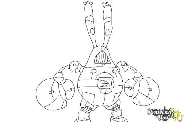 How to Draw Mr  Krabs, Sir Pinch-A-Lot from Spongebob