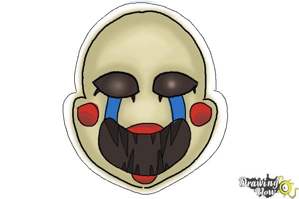 How to Draw The Puppet from Five Nights at Freddys - Step 10