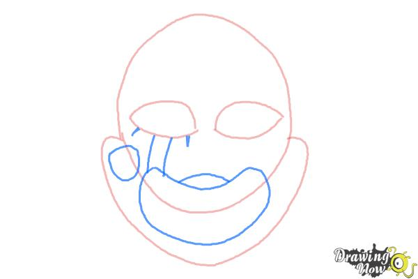 How to Draw The Puppet from Five Nights at Freddys - Step 4