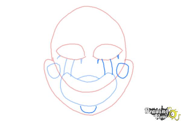 How to Draw The Puppet from Five Nights at Freddys - Step 5