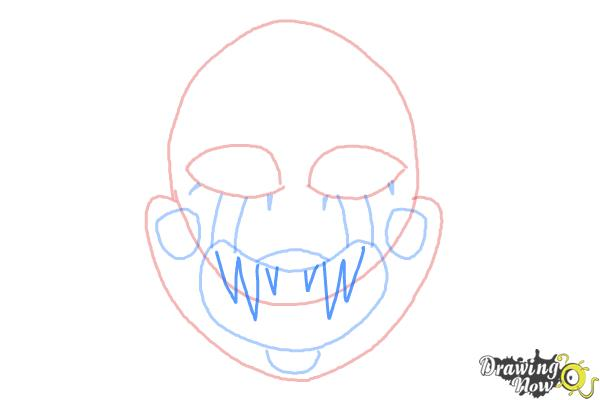 How to Draw The Puppet from Five Nights at Freddys - Step 6