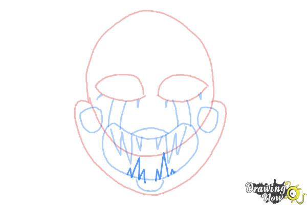 How to Draw The Puppet from Five Nights at Freddys - Step 7