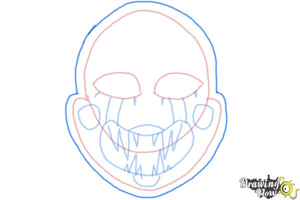 How to Draw The Puppet from Five Nights at Freddys - Step 8