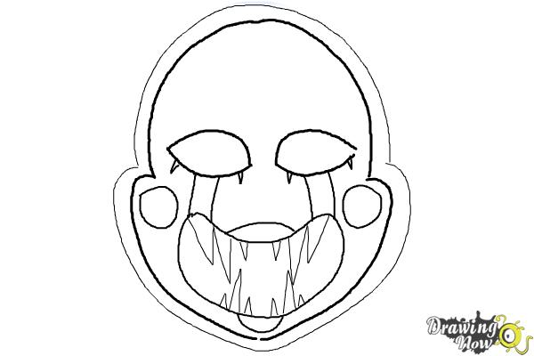 How to draw the puppet from five nights at freddys drawingnow Five Nights at Freddy's Puppet Master Five Nights at Freddy's Bonnie Coloring Pages Freddy's at Five Nights Nails