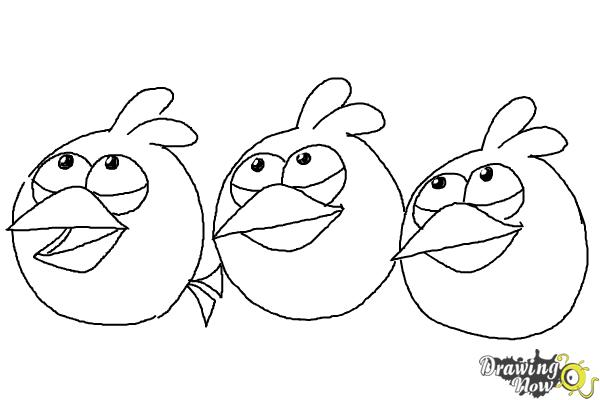 How to draw angry birds the blues blue birds drawingnow for Blue angry bird coloring page