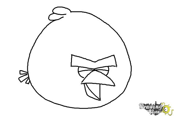 How to Draw Angry Bird Terence, Big Brother Bird | DrawingNow