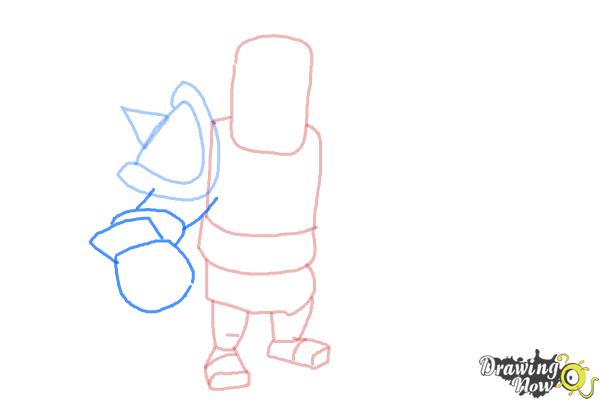 How to Draw Clash of Clans Barbarian King - Step 5