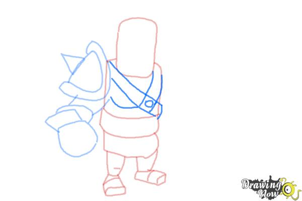 How to Draw Clash of Clans Barbarian King - Step 6