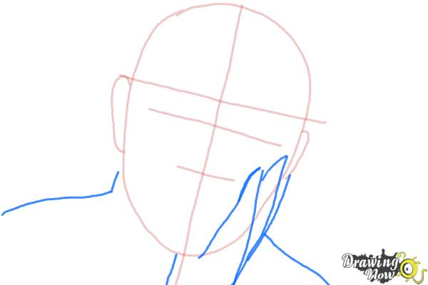 How to Draw Sean Connery - Step 3