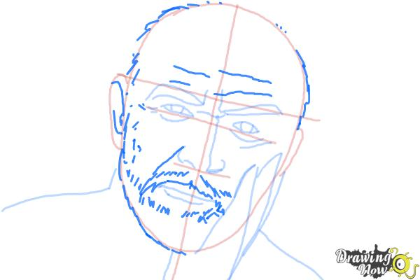 How to Draw Sean Connery - Step 6