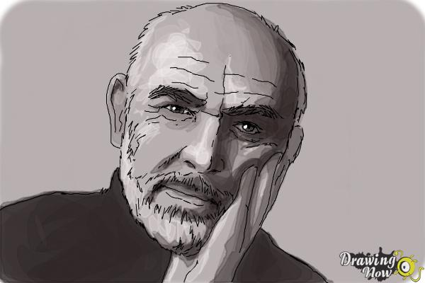 How to Draw Sean Connery - Step 8