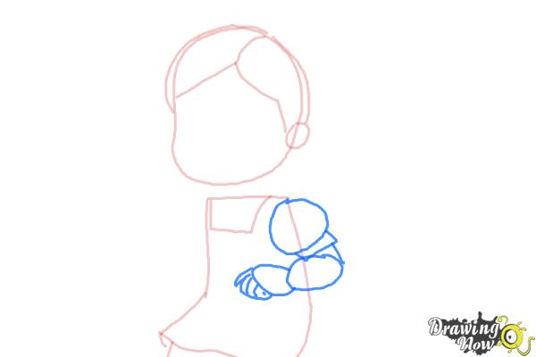 How to Draw Susie Sunshine from Doc Mcstuffins - Step 4