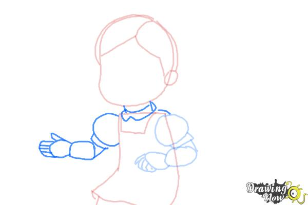 How to Draw Susie Sunshine from Doc Mcstuffins - Step 5