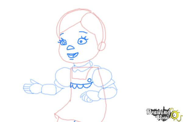 How to Draw Susie Sunshine from Doc Mcstuffins - Step 6
