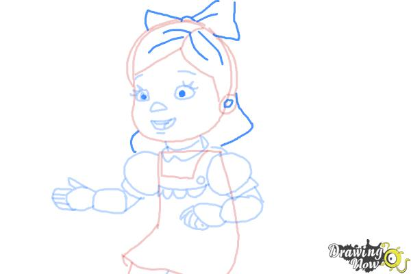 How to Draw Susie Sunshine from Doc Mcstuffins - Step 7