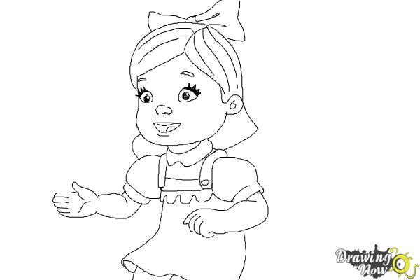 How to Draw Susie Sunshine from Doc Mcstuffins - Step 8