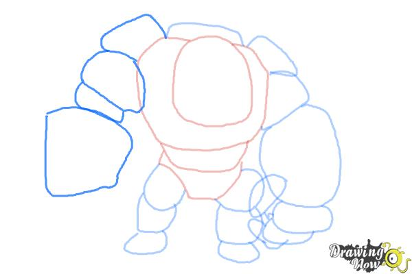 How to Draw Clash of Clans Golem - Step 6