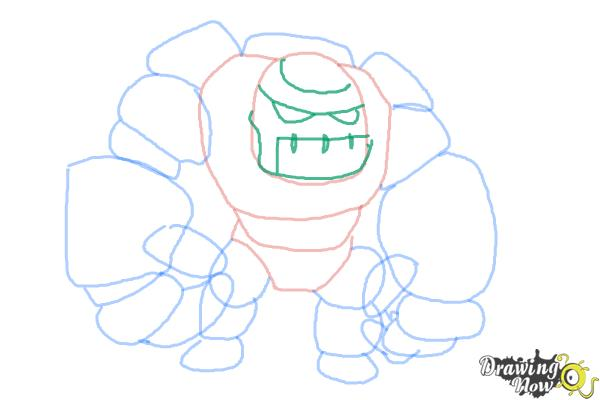 How to Draw Clash of Clans Golem - Step 8