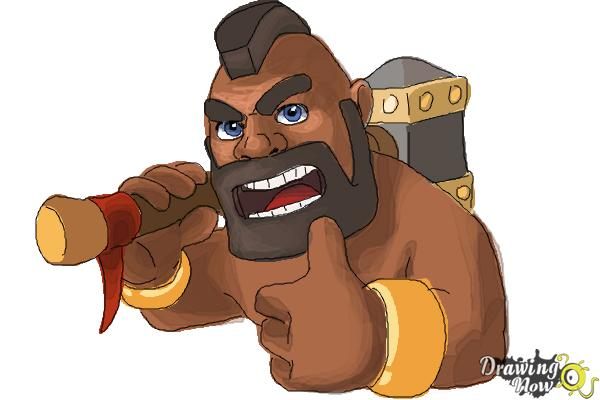 How To Draw Clash Of Clans Hog Rider Drawingnow