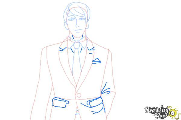 How to Draw Shuu Tsukiyama from Tokyo Ghoul - Step 7
