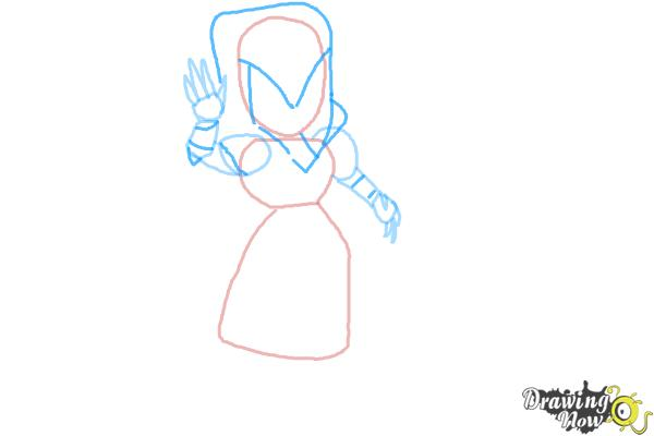How to Draw Clash of Clans Witch - Step 4