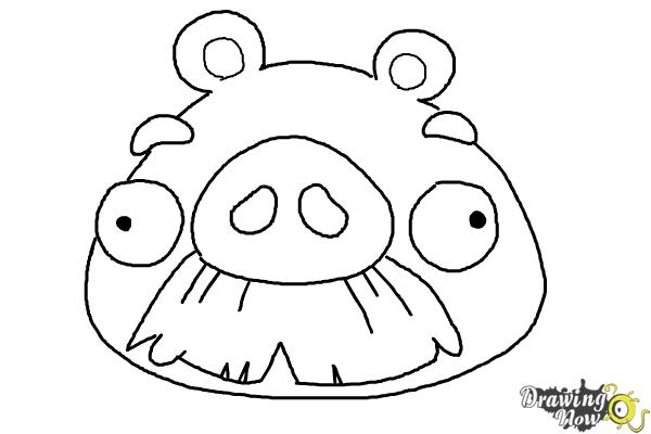 How To Draw Angry Birds Pig Foreman Pig Drawingnow